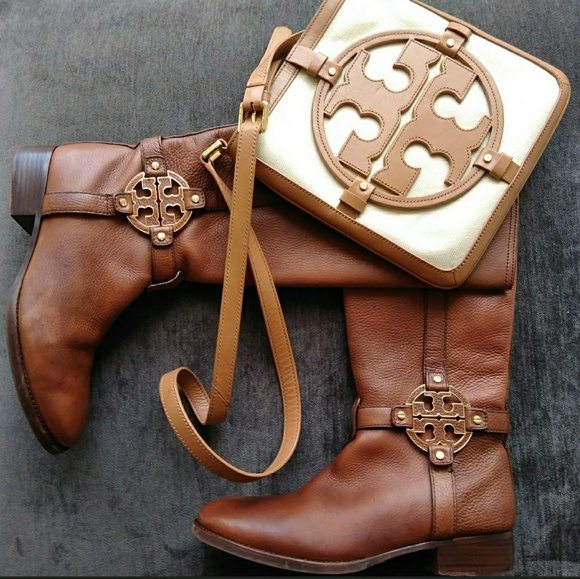 0194f3f38317 Tory Burch Amanda Riding Boots